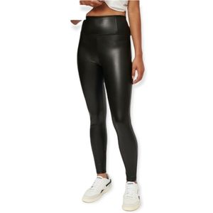 Dynamite jet black faux leather Naomi leggings size xsmall NWT